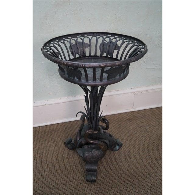 Image of Maitland Smith Large Bronze Pedestal Planter