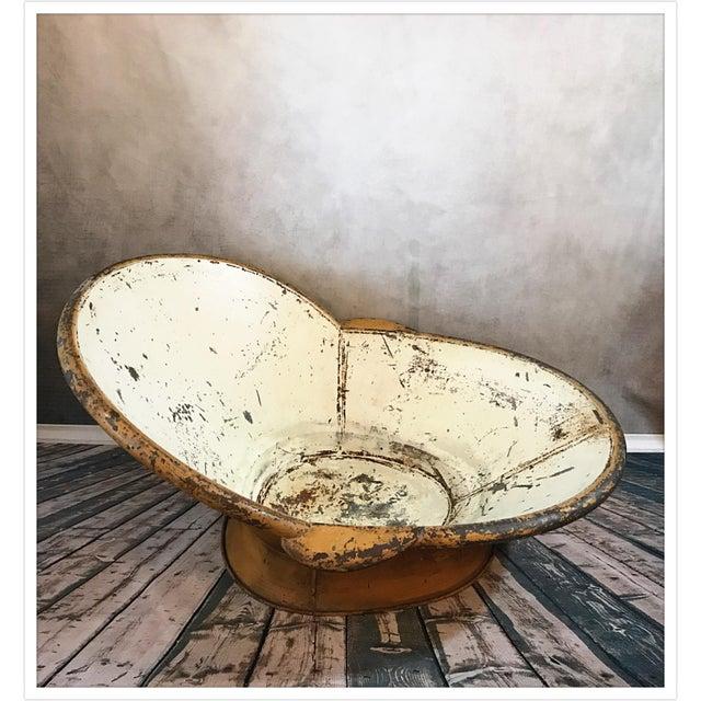 Antique French Zinc Bathtub - Image 6 of 11