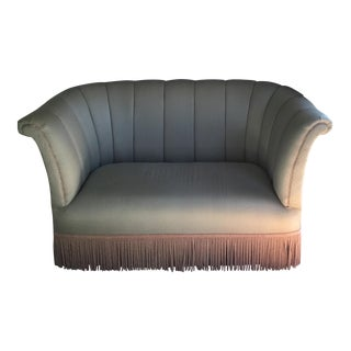 French Style Settee With Fringe
