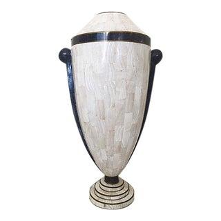 Tall Tessellated Stone Vase