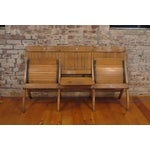 Image of Antique Wooden Theatre Seats - A Pair