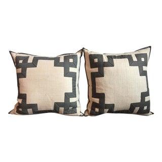 Ryan Studio Greek Key Pillows - A Pair
