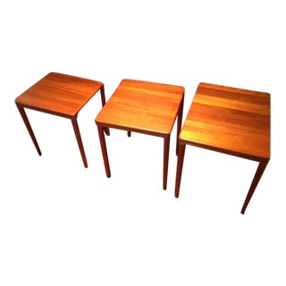Mid-Century Danish Modern Teak Nesting Tables - Set of 3