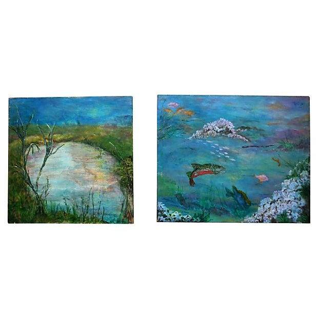 Image of Sea Life Paintings - Pair