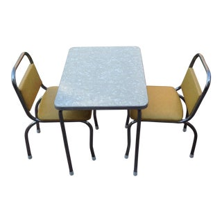 Child's Vintage Chrome Dinette Table & Chairs