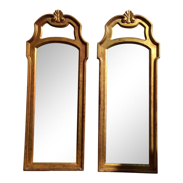 Vintage Gold Mirrors- A Pair - Image 1 of 6