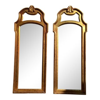 Vintage Gold Mirrors- A Pair