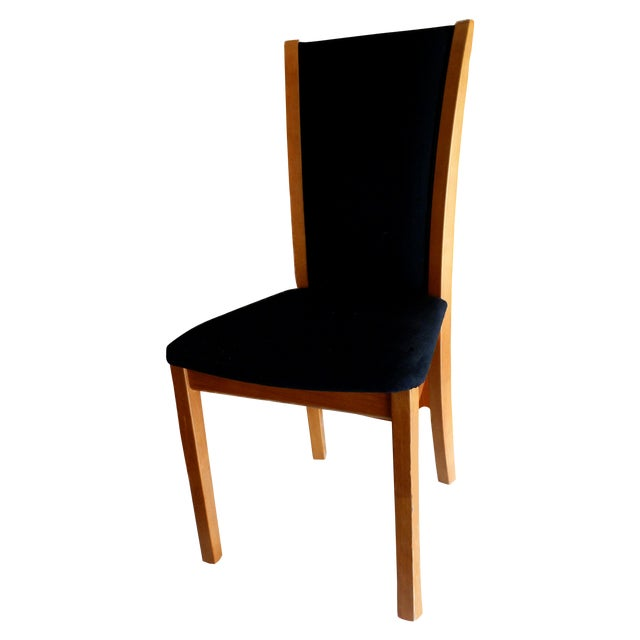 Skovby Cherry & Black Dining Chairs - Set of 8 - Image 1 of 6