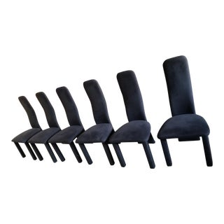 1980's Willy Rizzo Style Dining Chairs - Set of 6
