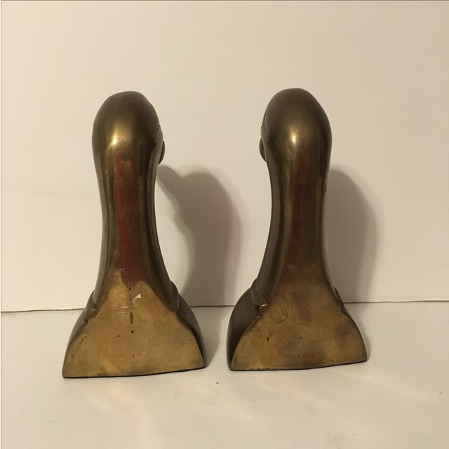Vintage Brass Mallard Bookends - A Pair - Image 5 of 6