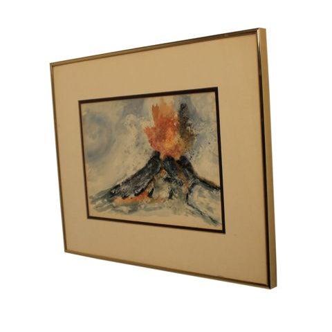 "Mixed Media Artwork - ""Erupting Volcano"" - Image 2 of 6"