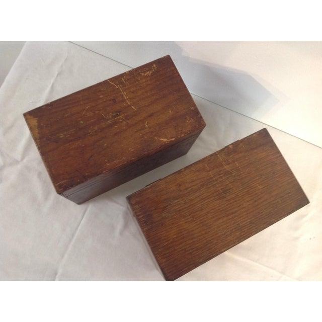 Image of Oak Cigar Boxes - Pair