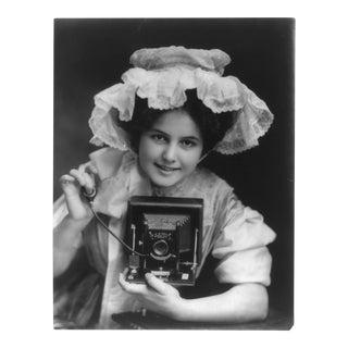 'Lady & Her Camera' Black & White Print