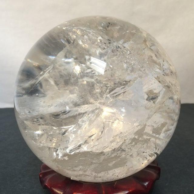 Extra Large Quartz Crystal Ball - Image 6 of 8