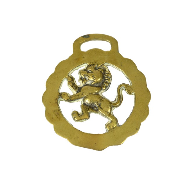 Vintage English Equestrian Lion Ornament - Image 3 of 3