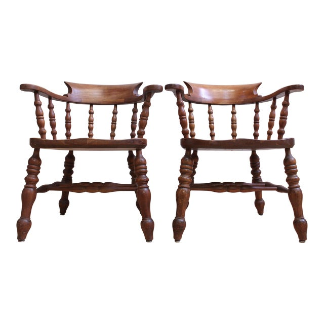 L & JG Stickley Colonial Cherry Valley Captain's Chairs - A Pair - Image 1 of 7