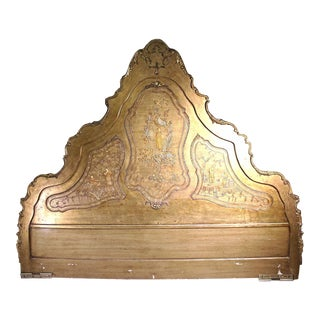Chinoiserie Asian Style King Size Headboard