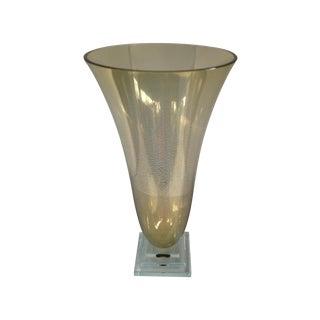 Stephen Schlanser Signed 24k Gold Vase