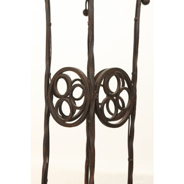 1940's Wrought Iron Chandelier - Image 7 of 8