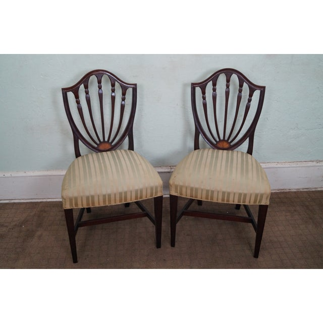 Mahogany Federal Style Inlaid Dining Chairs - 6 - Image 2 of 10