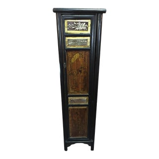 Antique Chinese Slim Storage Cabinet