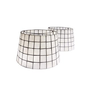 Capiz Tapered Lampshades - A Pair