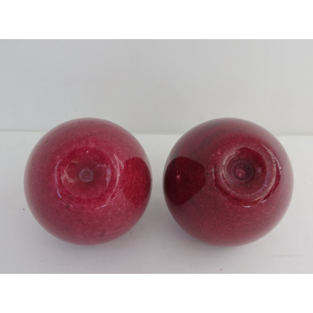 Marble Apple Paperweights- A Pair - Image 5 of 5