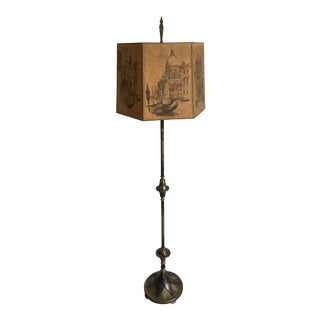 Art Deco Floor Lamp With Original Shade