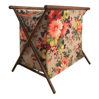 Retro Floral Magazine Rack