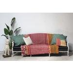 Image of Antique Louis Canapé Black Velvet Sofa