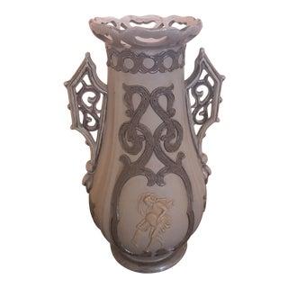 Italian Rococo Style Pottery Vase