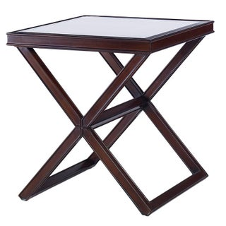 Kravet Mirrored Brown 'X' Side Table