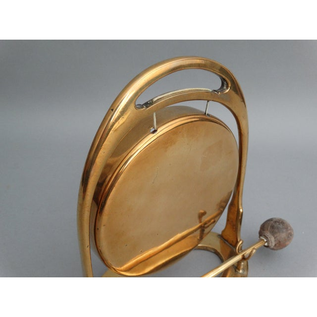 Art Deco Edwardian Brass Table Gong - Image 5 of 6