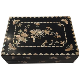 Old Mother of Pearl Decorative Box