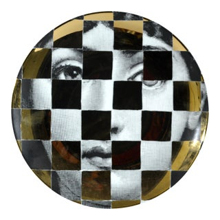 Fornasetti Gold Tema E Variazioni Plate, Number 45