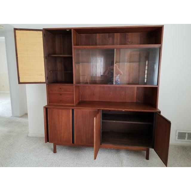 Mid-Century Dillingham Wall Unit with Shelving - Image 4 of 9