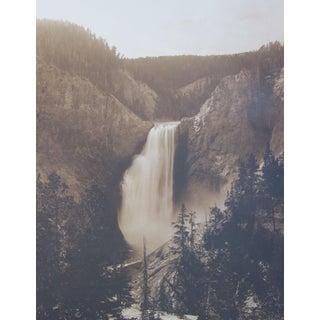 "Antique ""Yellowstone Falls"" Photograph"