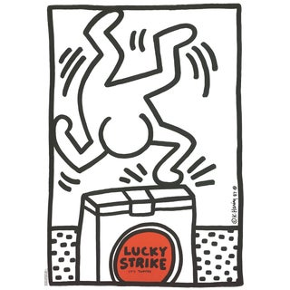 "Keith Haring ""Lucky Strike"" 1987 Poster"