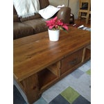 Image of Solid Walnut Wood Coffee Table