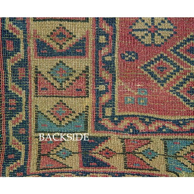 Old Caucasian Oriental Rug - 2′10″ × 3′11″ - Image 9 of 9
