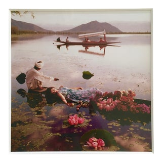 "1956 Norman Parkinson's ""Floating With Flowers"" Photograph"
