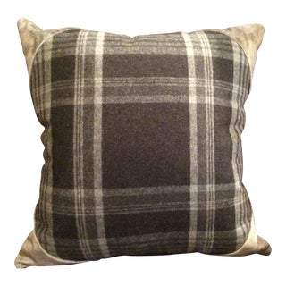 Ralph Lauren Deerpath Trail Charcoal Wool Pillow