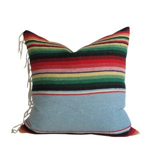 Mexican Saltillo Pillow With Fringe