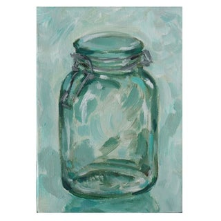 Small Acrylic Painting - Hinged Jar I