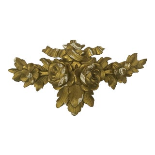Antique Gold Gilt Carved French Architectural Element