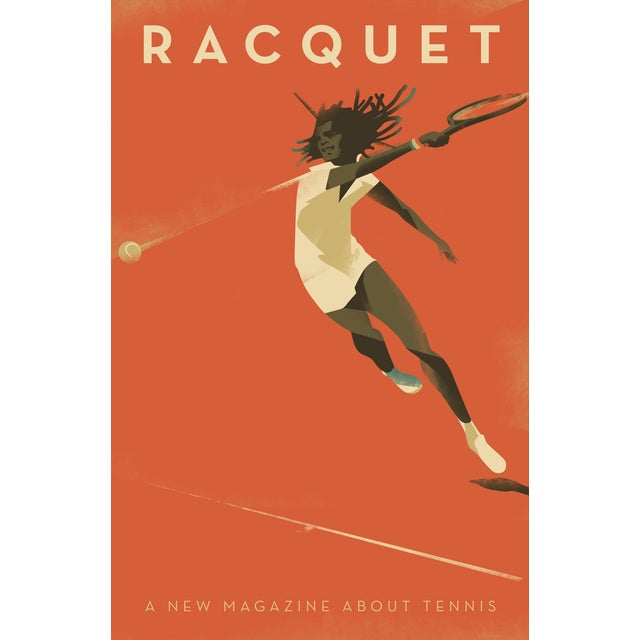 """Racquet"" Minimalist Danish Modern Poster - Image 2 of 3"