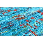 Image of Blue Sari Silk Hand-Knotted Rug - 8' X 10'