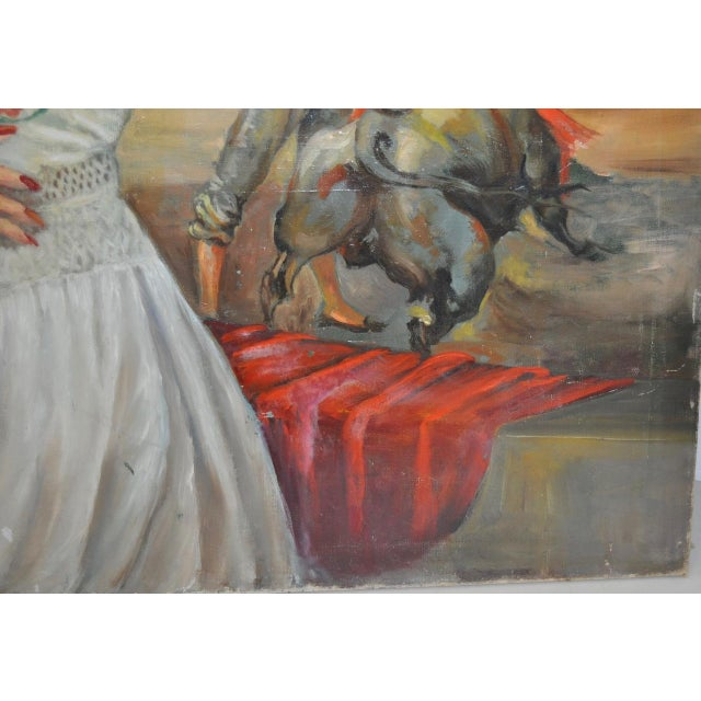 """Matador and the Señorita"" Oil on Canvas - Image 7 of 10"