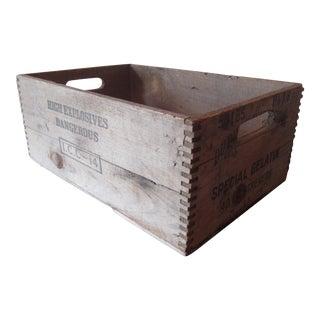 Vintage Wooden DuPont Dynamite Gelatin Explosive Crate