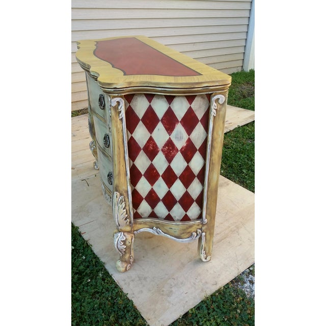 Hand Painted Harlequin French Dresser - Image 8 of 9